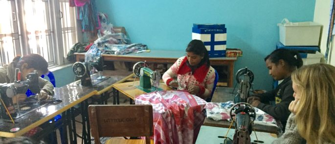 young women's tailoring course